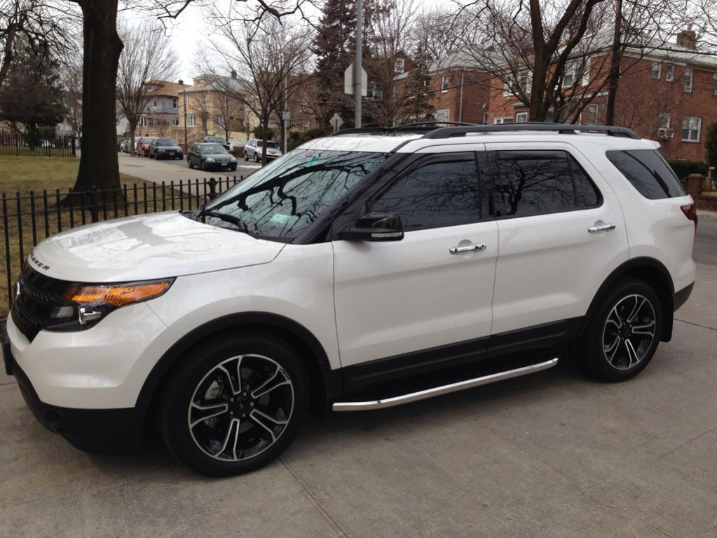 "2015 Ford Explorer Black Rims >> The official ""White Platinum Tri-Coat"" Explorer Sport Thread"