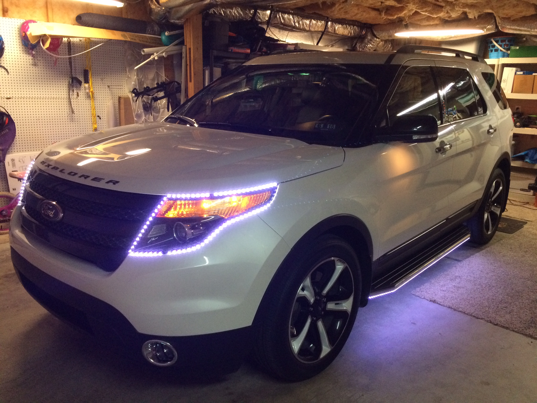 Running boards for 2014 Ford Explorer Sport - blacked out ...